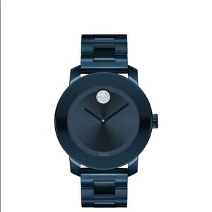 Brand new movado bold women's navy blue watch
